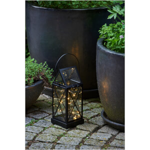 Sirius Aske Outdoor Lantern with Timer - Black