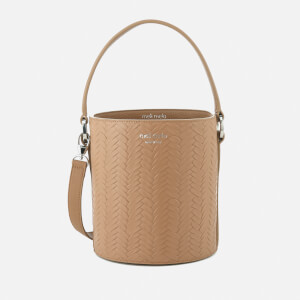 meli melo Women's Santina Mini Bucket Bag Large Woven - Light Tan