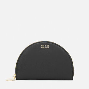 meli melo Women's Half Moon Floater Wallet - Black