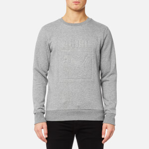 Puma Men's Archive Embossed Logo Crew Neck Sweatshirt - Medium Gray Heather