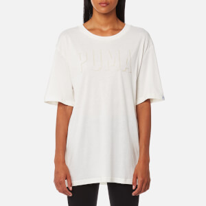 Puma Women's Fusion Elongated Short Sleeve T-Shirt - Marshmallow