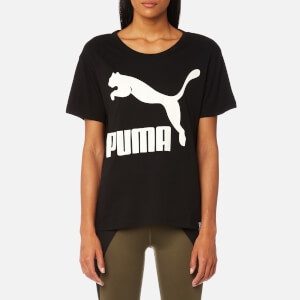 Puma Women's Archive Logo Short Sleeve T-Shirt - Cotton Black