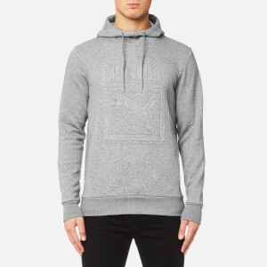 Puma Men's Archive Embossed Logo Hoody - Medium Grey Heather