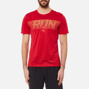 Puma Men's Run Short Sleeve T-Shirt - Toreador