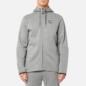 Puma Men's Evo Core Full Zip Hoody - Medium Grey Heather
