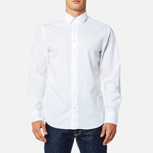 GANT Men's Tech Prep Chambray Solid Shirt - White