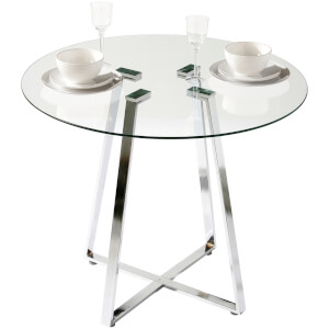 Metropolitan Dining Round Table - Glass