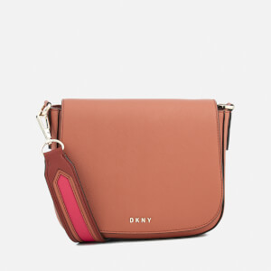 DKNY Women's Bryant Park New Medium Flap Cross Body Bag - Terracotta
