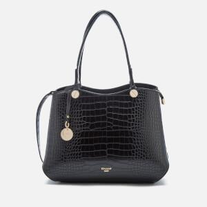 Dune Women's Dimogen Croc Print Tote Bag - Black