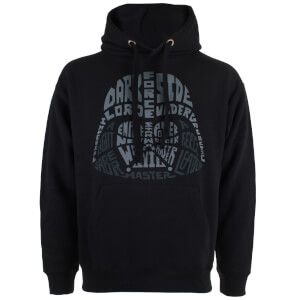 Sweat à Capuche Homme - Star Wars Dark Vador Texte - Noir