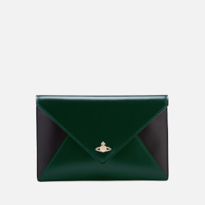 Vivienne Westwood Women's Private Envelope Clutch Bag - Green/Black