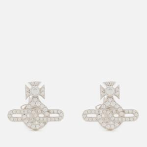 Vivienne Westwood Women's Infinity Orb Stud Earrings - White Cubic Zirconia