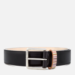 Paul Smith Men's Stripe Keeper Belt - Black