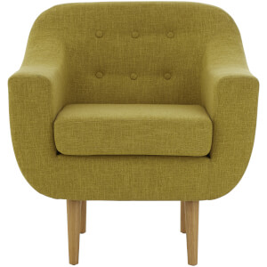 Fifty Five South Odense Chair - Fabric Yellow/Pistachio