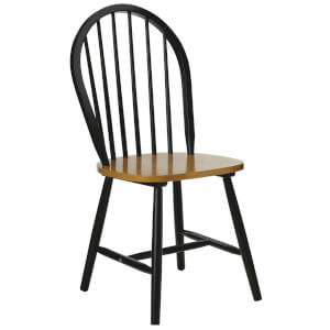 Fifty Five South Vermont Oakland Chair (5 Piece) - Oak/Black