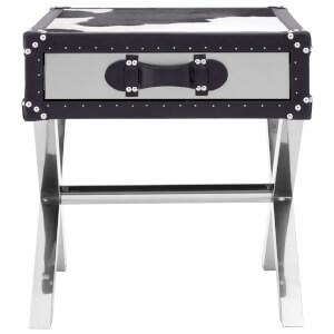 Fifty Five South Kensington Townhouse Table - Black/White Cowhide
