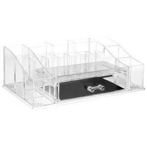 Fifty Five South 16 Compartment Cosmetics Organiser - Clear