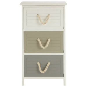Fifty Five South Maine Three Drawer Chest - Natural