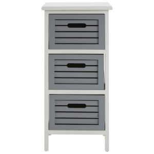 Fifty Five South Vermont Three Drawer Unit - Grey/White Wash