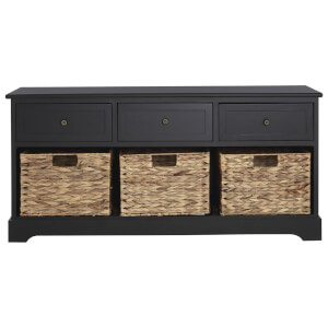 Fifty Five South Vermont Three Drawer Bench - Black