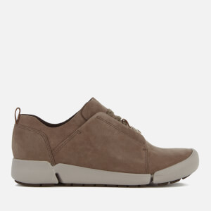 Clarks Women's Tri Bella Leather Trainers - Grey Combi