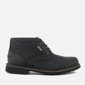 Clarks Men's Lawes Mid Gtx Leather Desert Boots - Black