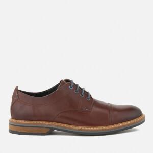 Clarks Men's Pitney Cap Leather Toe Cap Derby Shoes - Tan