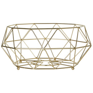 Vertex Iron Wire Fruit Basket - Gold Finish