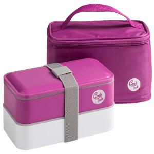Grub Tub Lunch Box with Cool Bag - Pink