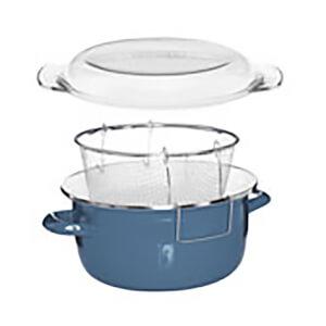 Enamel on Steel Deep Fryer - Blue