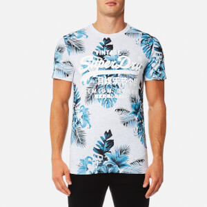 Superdry Men's Premium Goods All Over Print T-Shirt - Ice Marl