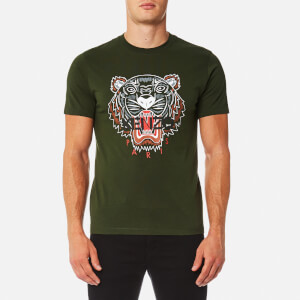 KENZO Men's Tiger Logo Icon T-Shirt - Dark Khaki