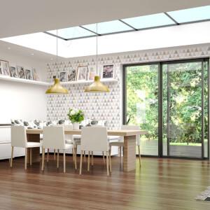 Superfresco Easy Tarek Geometric Wallpaper - Copper/Grey