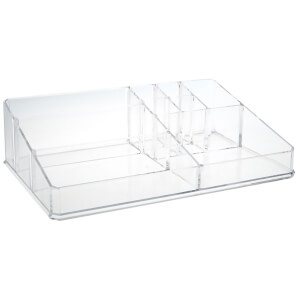 Fifty Five South 9 Compartment Cosmetics Organiser - Clear