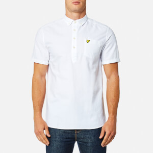 Lyle & Scott Men's Garment Dye Oxford Overhead Shirt - White