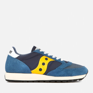 Saucony Men's Jazz Original Vintage Trainers - Blue/Yellow