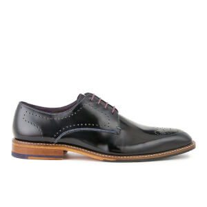 Ted Baker Men's Marar High Shine Leather Derby Shoes - Black