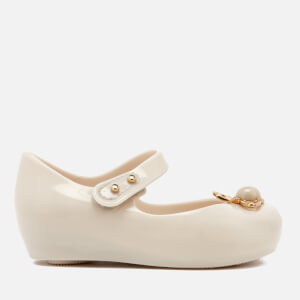 Mini Melissa Vivienne Westwood Toddlers' Ultragirl 18 Ballet Flats - Ivory Pearl Orb