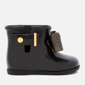 Mini Melissa Toddlers' Sugar Rain Bow 18 Boots - Black