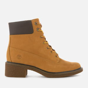 Timberland Women's Brinda 6 Inch Lace Up Heeled Boots - Wheat Nubuck