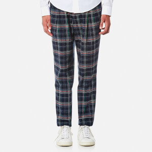 Vivienne Westwood MAN Men's Check New Classic Trousers - Navy Indigo Satin