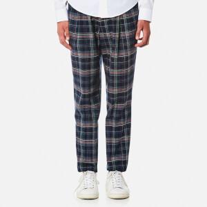 Vivienne Westwood Men's Check New Classic Trousers - Navy Indigo Satin