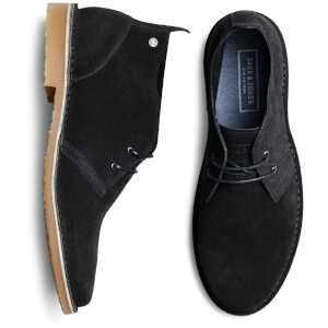 Jack & Jones Men's Gobi Suede Desert Boots - Anthracite