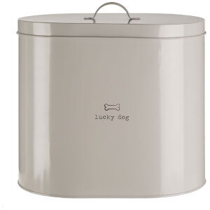 Premier Housewares Adore Pets Lucky Dog Food Storage Bin with Spoon (612L) - Cream