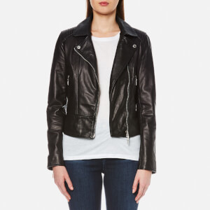 Barbour International Women's International Stroma Leather Jacket - Black