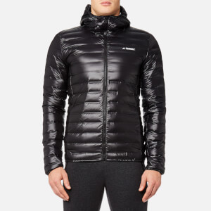 adidas Terrex Men's Light Down Hooded Jacket - Black
