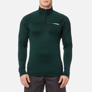 adidas Terrex Men's TX Icesky 2 Long Sleeve Fleece Jumper - Green Night