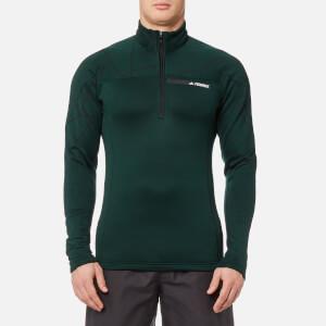 adidas Terrex Men's TX Icesky 2 Long Sleeve Fleece Jumper - Green Night