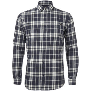 Jack & Jones Originals Men's Bravo Long Sleeve Check Shirt - Peacoat