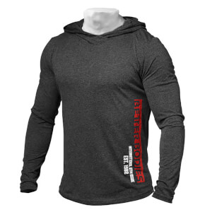 Better Bodies Mens soft hoodie - Antracite melange